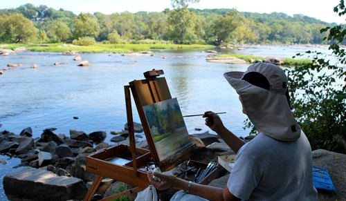 Pony Pasture in early fall inspires several artists