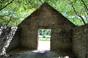 Armored storage shed at Belle Isle
