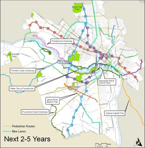 Bike Trail map, next 2-5 years
