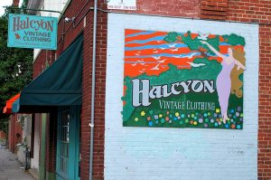 Halcyon Vintage clothing at 117 North Robinson Street
