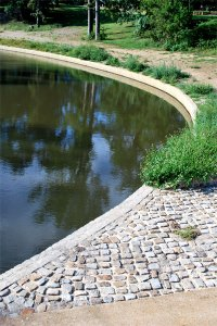 Improvements to the walls at Young's Pond in Joseph Bryan Park