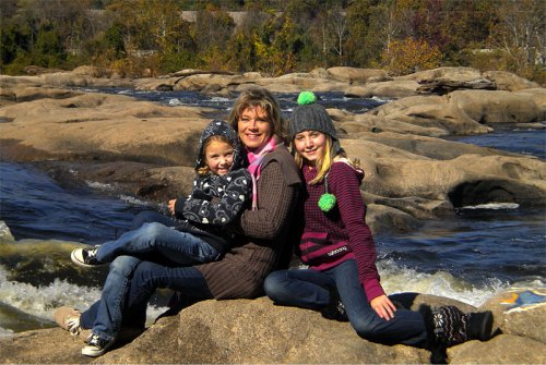 Christine Beish with her girls at Belle Isle