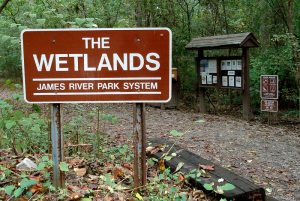 The Wetlands entrance on Landria Drive