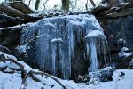 20-foot icicles dripping from boulders in the quarry below Riverside Drive