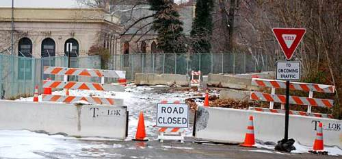 Pump House Road has been closed since mid-December 2010