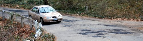 Potholes repaired on Riverside Drive