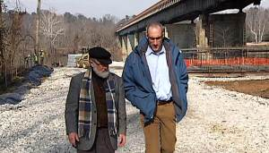 Ralph White and Andrew Freiden discuss the Huguenot Bridge