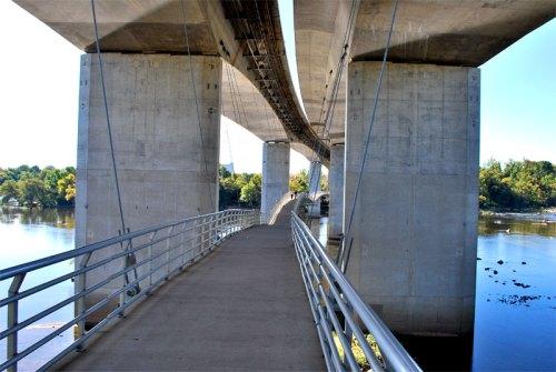 Belle Isle pedestrian bridge under the Robert E. Lee Bridge