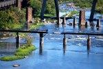 VEPCO levee, viewed from the Robert E. Lee Bridge