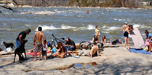 First real big warm day at Belle Isle in 2011