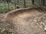 One of the new switchbacks being put into place in the new reroute of the Buttermilk Trail