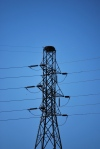 Osprey nest atop a power tower at Pipeline Rapids