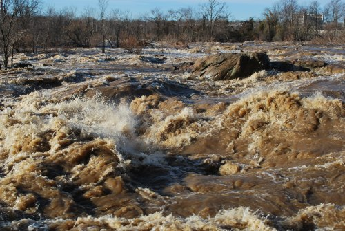James River at 12 feet at Pipeline Rapids, March 8, 2010