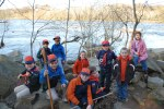 Cub Scouts visit Pony Pasture Rapids Park in March 2011