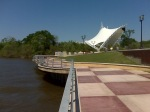 Amphitheater and Riverwalk on the Alabama River in downtown Montgomery, Alabama